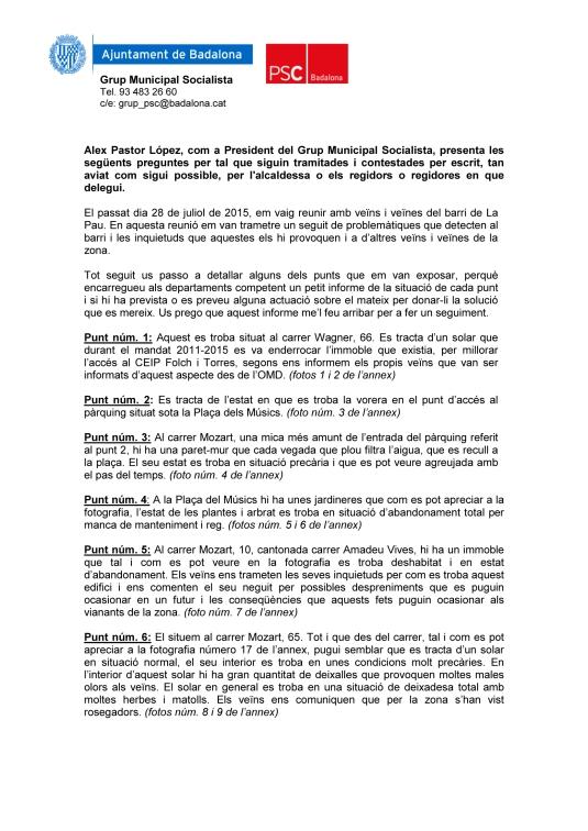 Demandes barri La Pau1